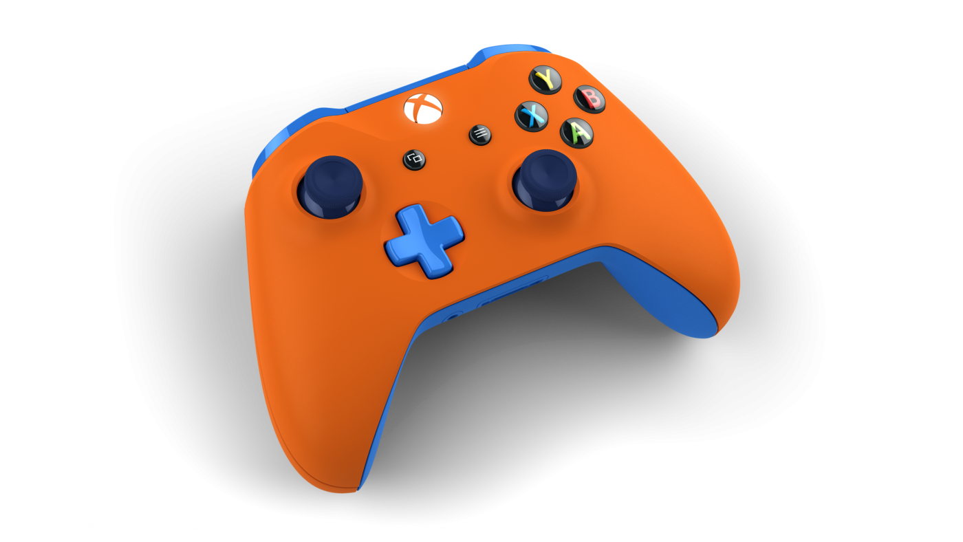 Microsoft Xbox One S Wireless Controller - Orange & Blue - **POUŽITÝ**