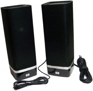 HP S-00074 USB 2.0 Powered Speakers 512172-001 Ov SkyRoom RoHS